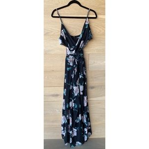 Missguided Cross Front Maxi Floral Dress